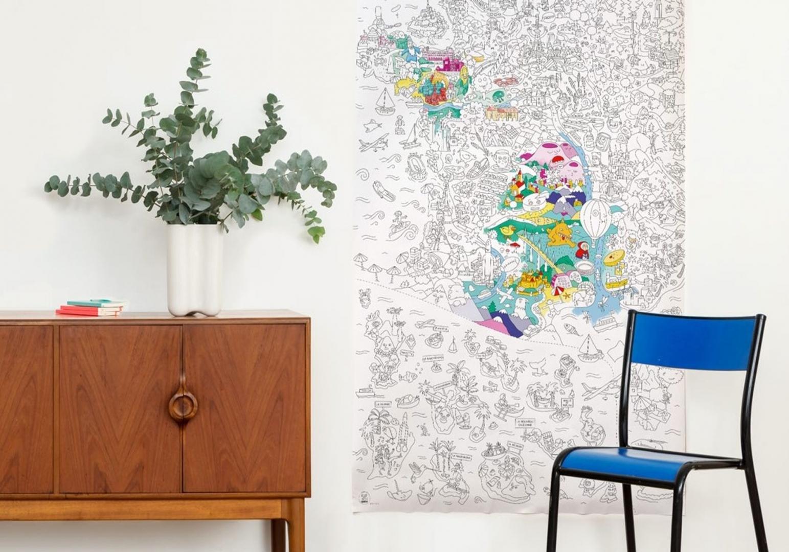 FRANCE - Poster Géant à colorier - OMY