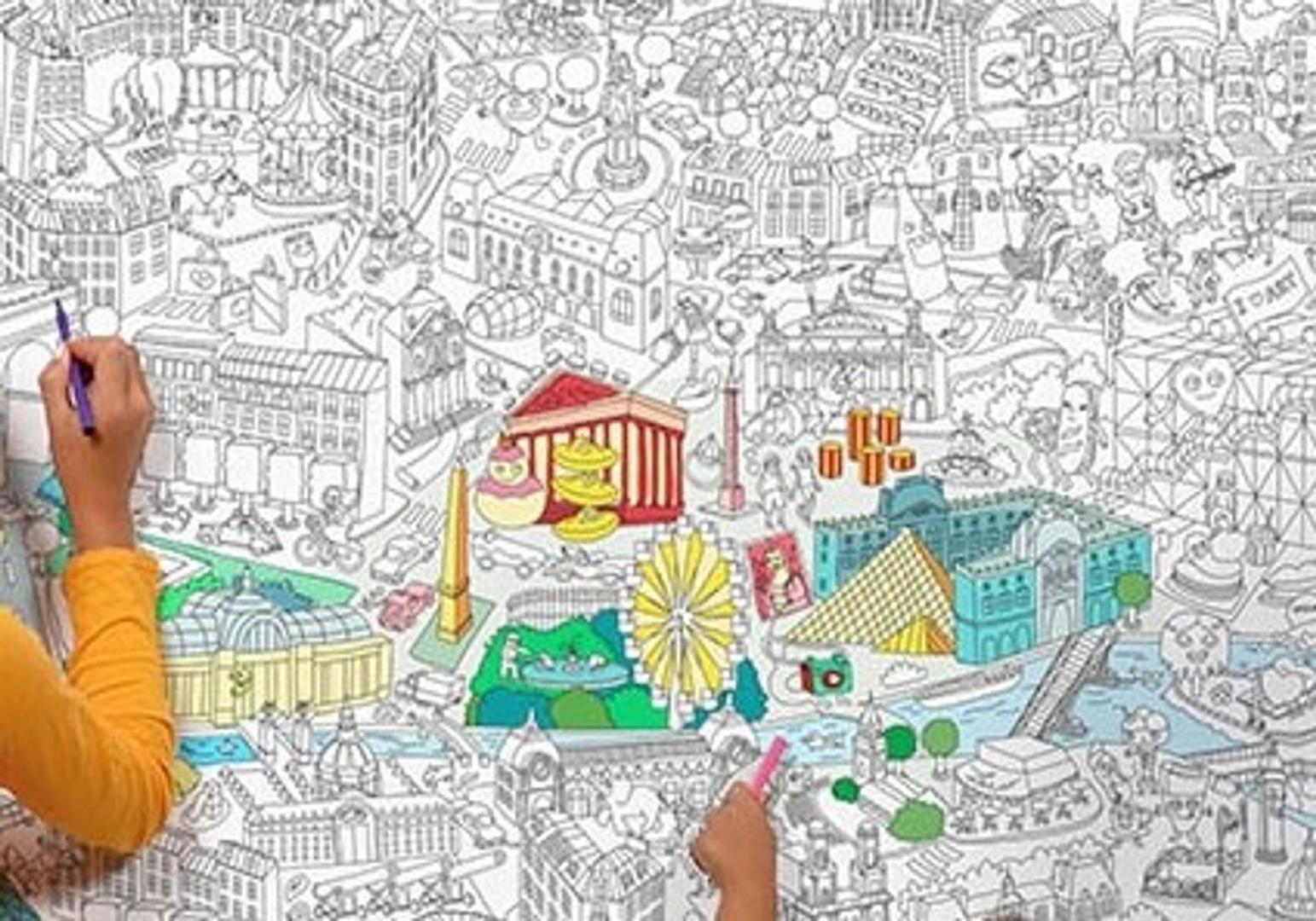 PARIS - Poster Géant à colorier - OMY