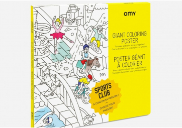 Poster à colorier Sport - OMY