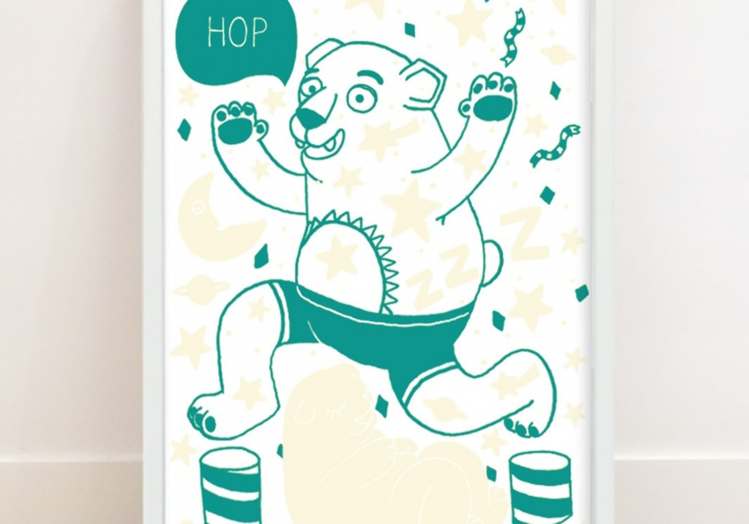 Poster Phosphorescent Grizzly - OMY