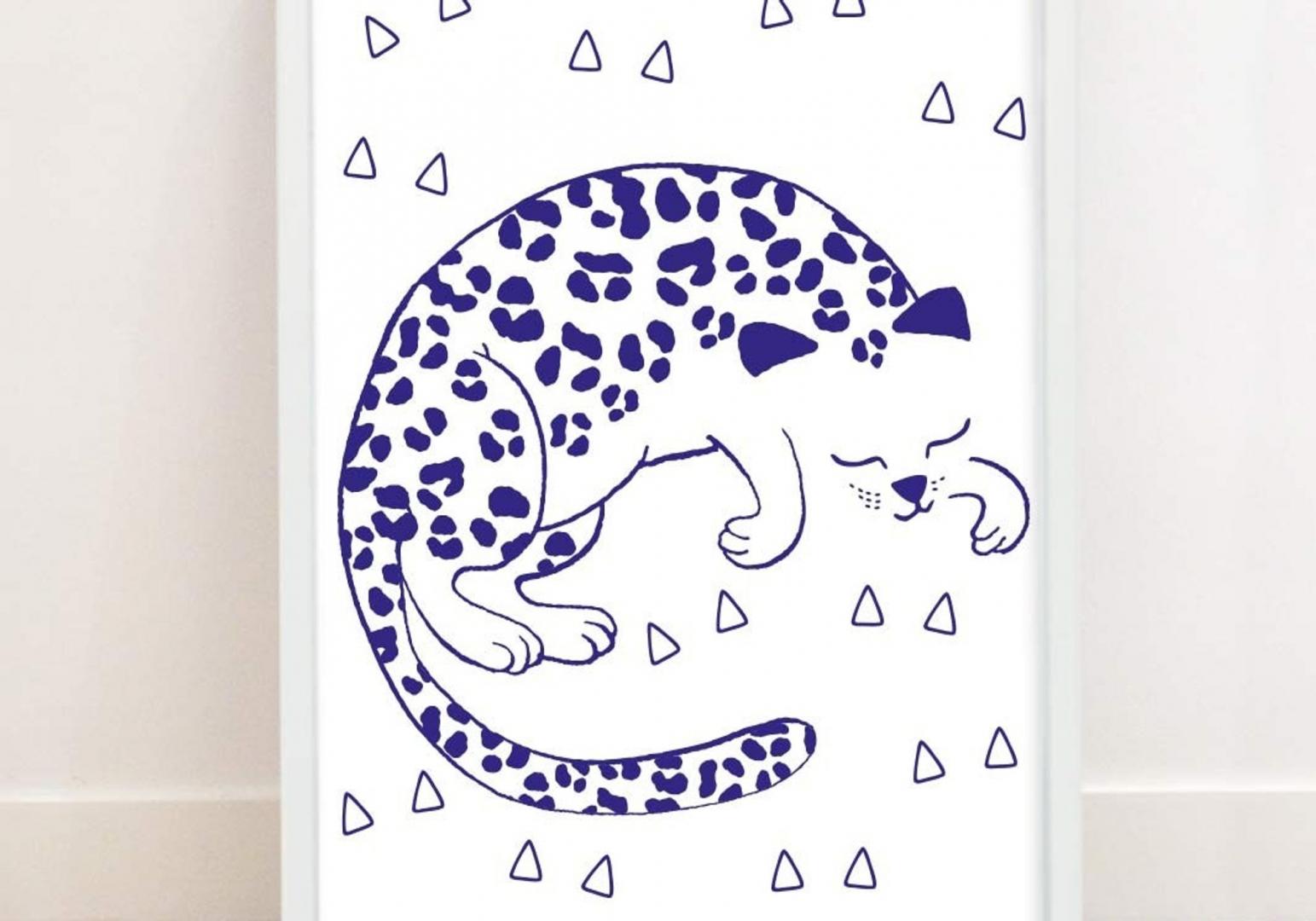 Poster Phosphorescent Tigre - OMY