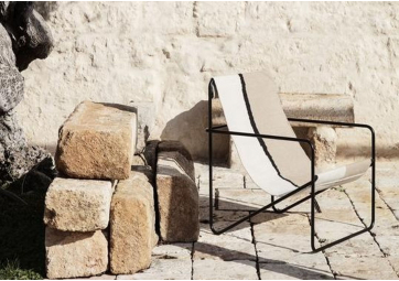 Desert Lounge Chair - Black/Soil - FERM LIVING