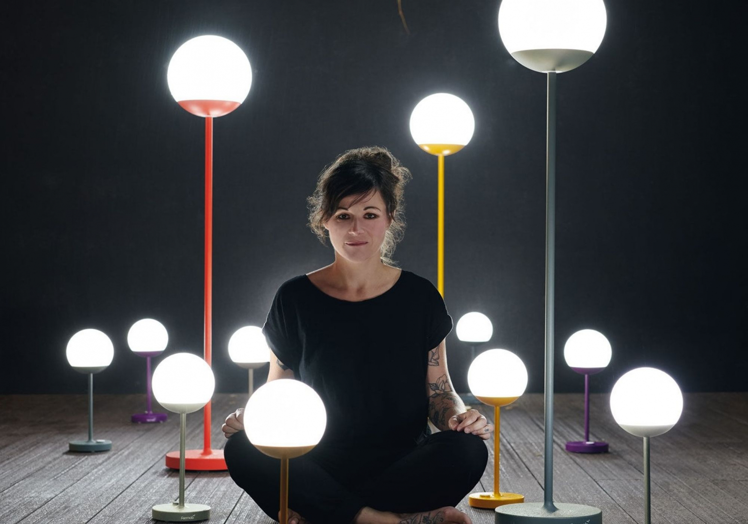 Lampadaire sans fil Mooon LED - FERMOB