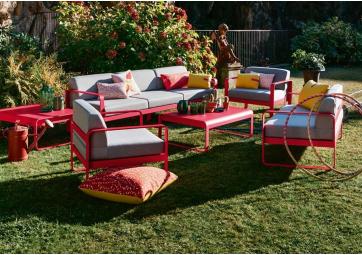 Canapé de jardin Bellevie 3 places avec coussin gris flanelle - FERMOB