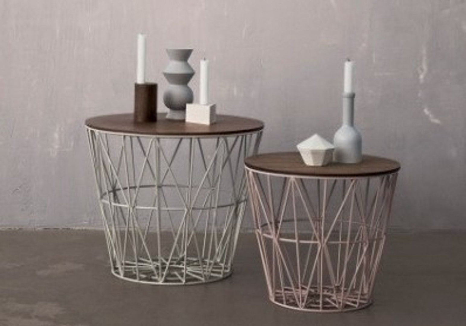 Tablette WIRE chêne fumé - FERM LIVING