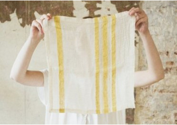 The Library Stripe - Serviette - LIBECO