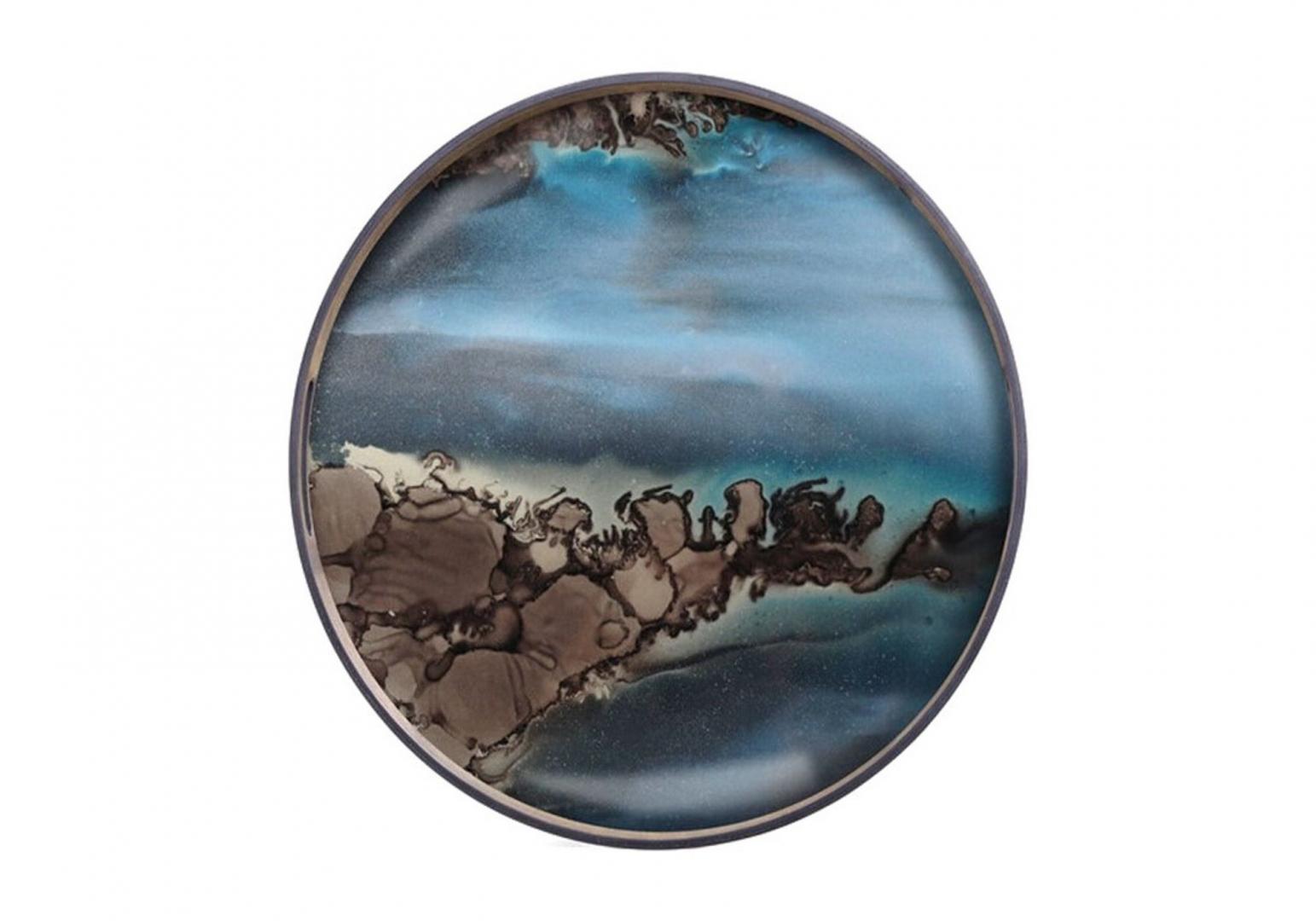 Plateau Slate Organic glass - ETHNICRAFT ACCESSOIRES