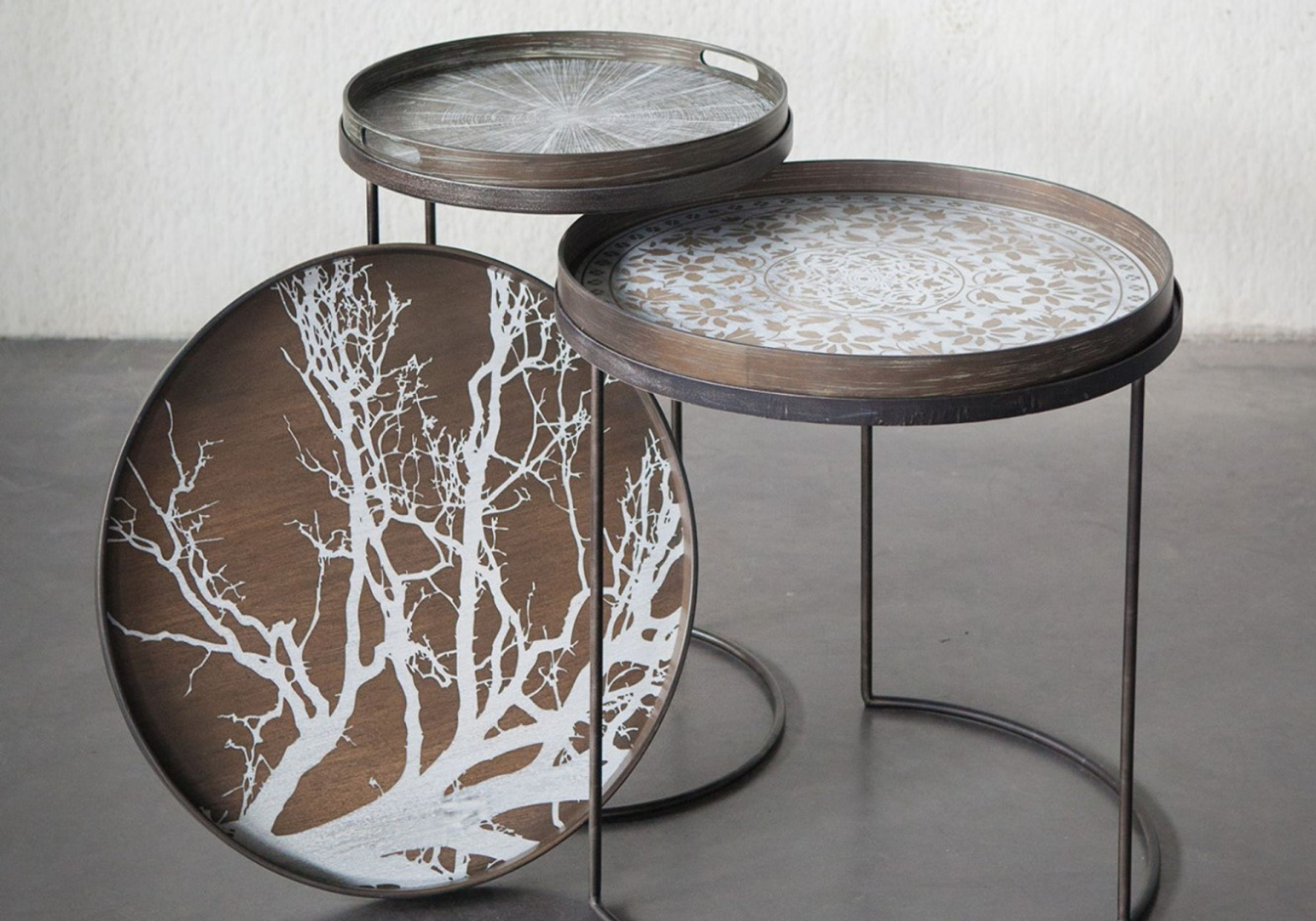 Plateau White Tree large - ETHNICRAFT ACCESSOIRES