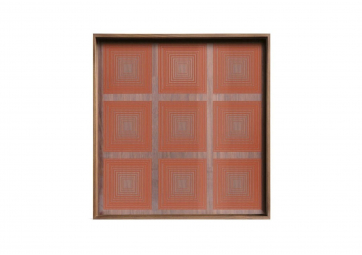 Plateau Pumpkin Squares glass Small - ETHNICRAFT ACCESSOIRES