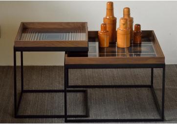 Set de 2 Tables pour Plateaux Square - ETHNICRAFT ACCESSOIRES