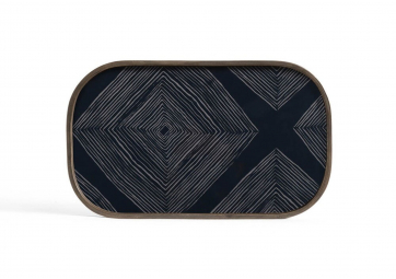 Vide Poche Ink Linear Squares - ETHNICRAFT ACCESSOIRES