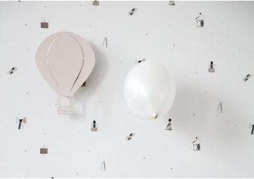 Lampe Montgolfiere rose - FERM LIVING