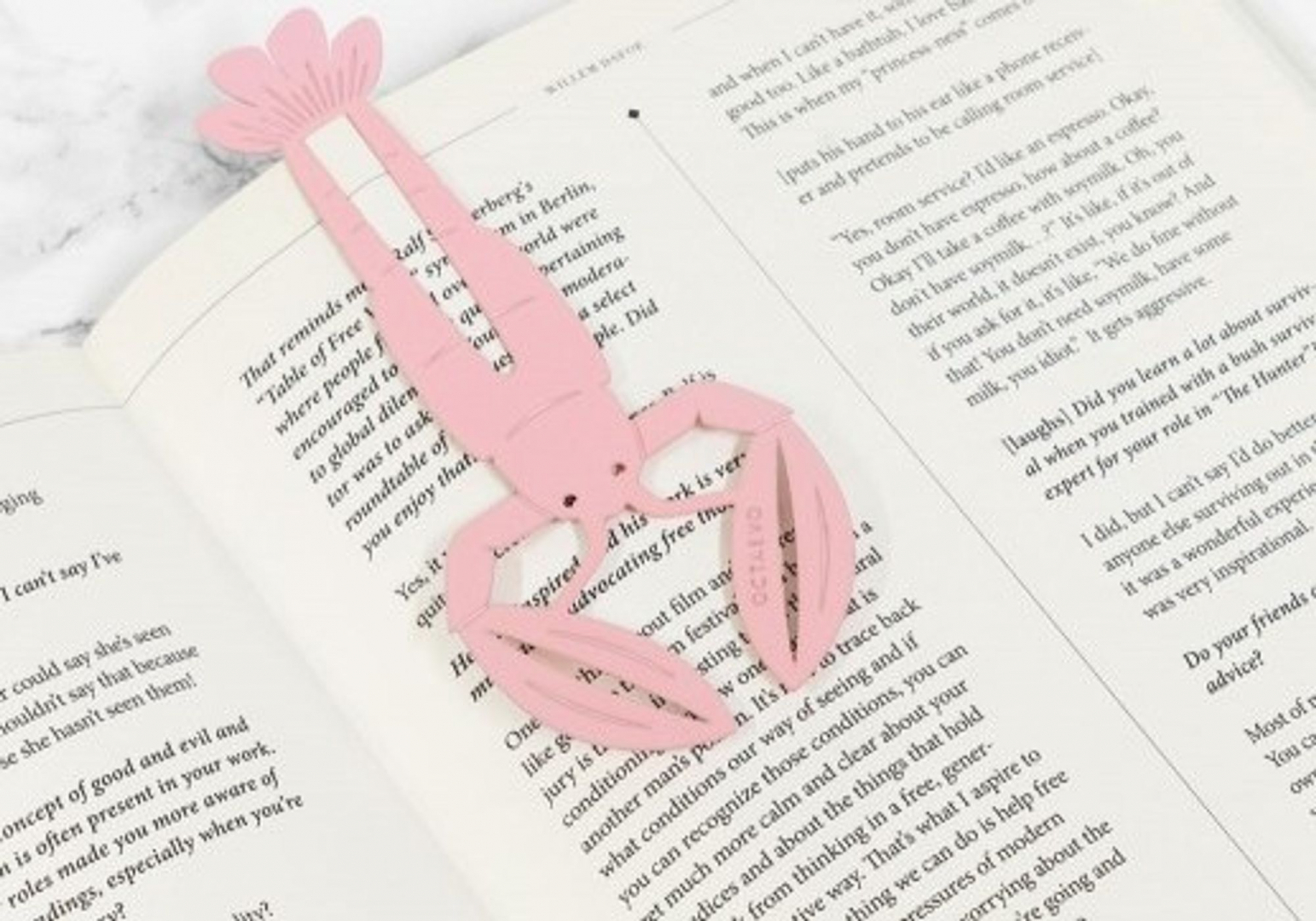 Marque pages Homard rose - OCTAEVO