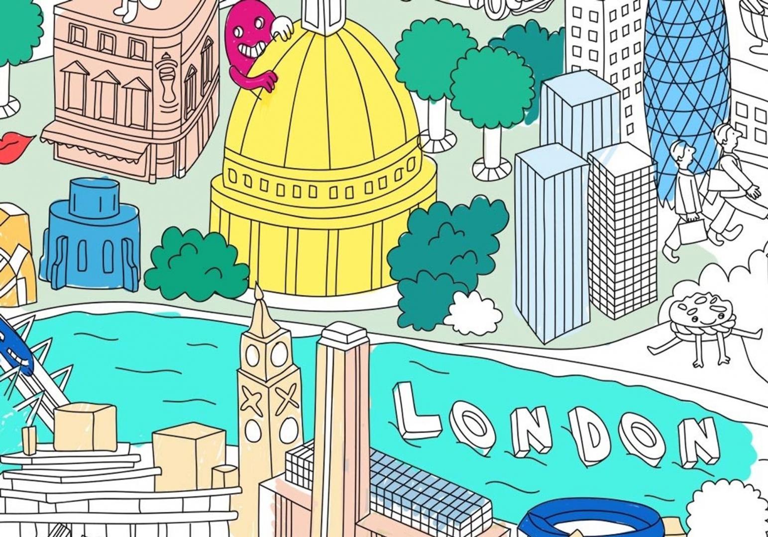 Poster Londres - OMY