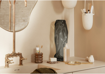 Swirl - Grand vase en verre gris fumé - FREM LIVING