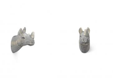 Patère Rhinoceros - sculpté à la main - FERM LIVING