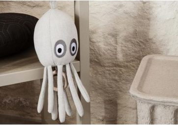 Octopus - Mobile musical - pieuvre blanche - FERM LIVING