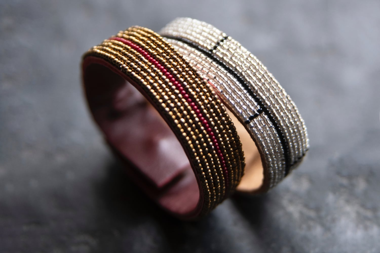 Bracelet bordeaux et or - MILLE ET CLAIRE