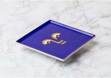 Plateau ceramique Apollo Bleu - OCTAEVO
