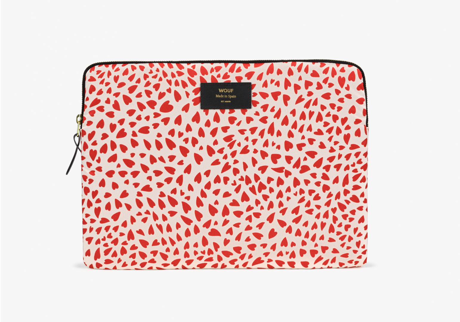 """Housse design Macbook 13"""" white Hearts - WOUF"""
