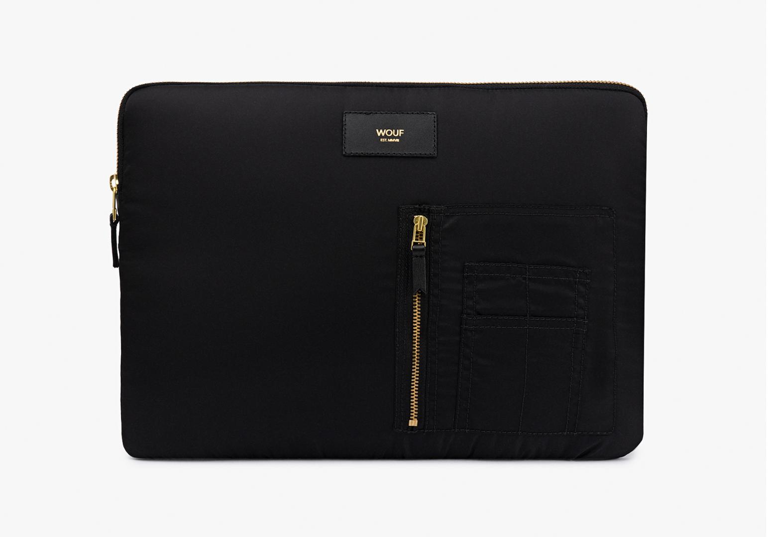 "Housse Macbook 13"" design Black Bomber - WOUF"