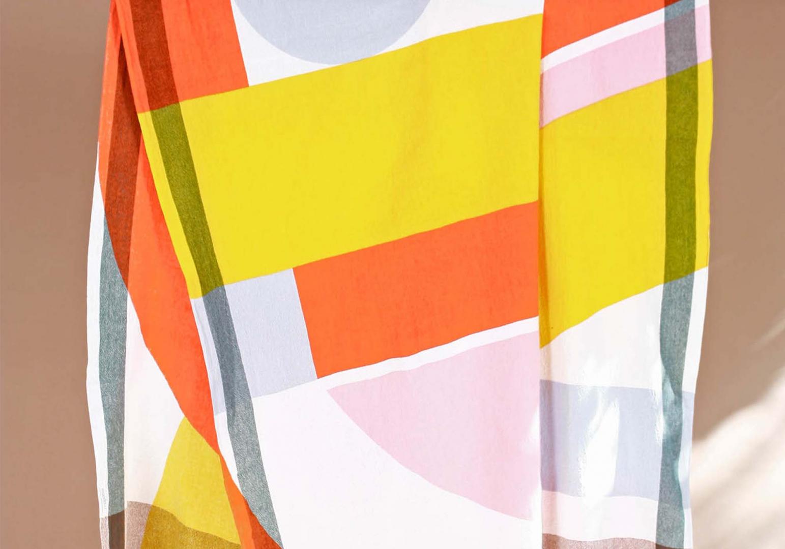 Fouta design Vision orange - MA POESIE