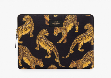 Housse Macbook 13' black Leopard  - WOUF