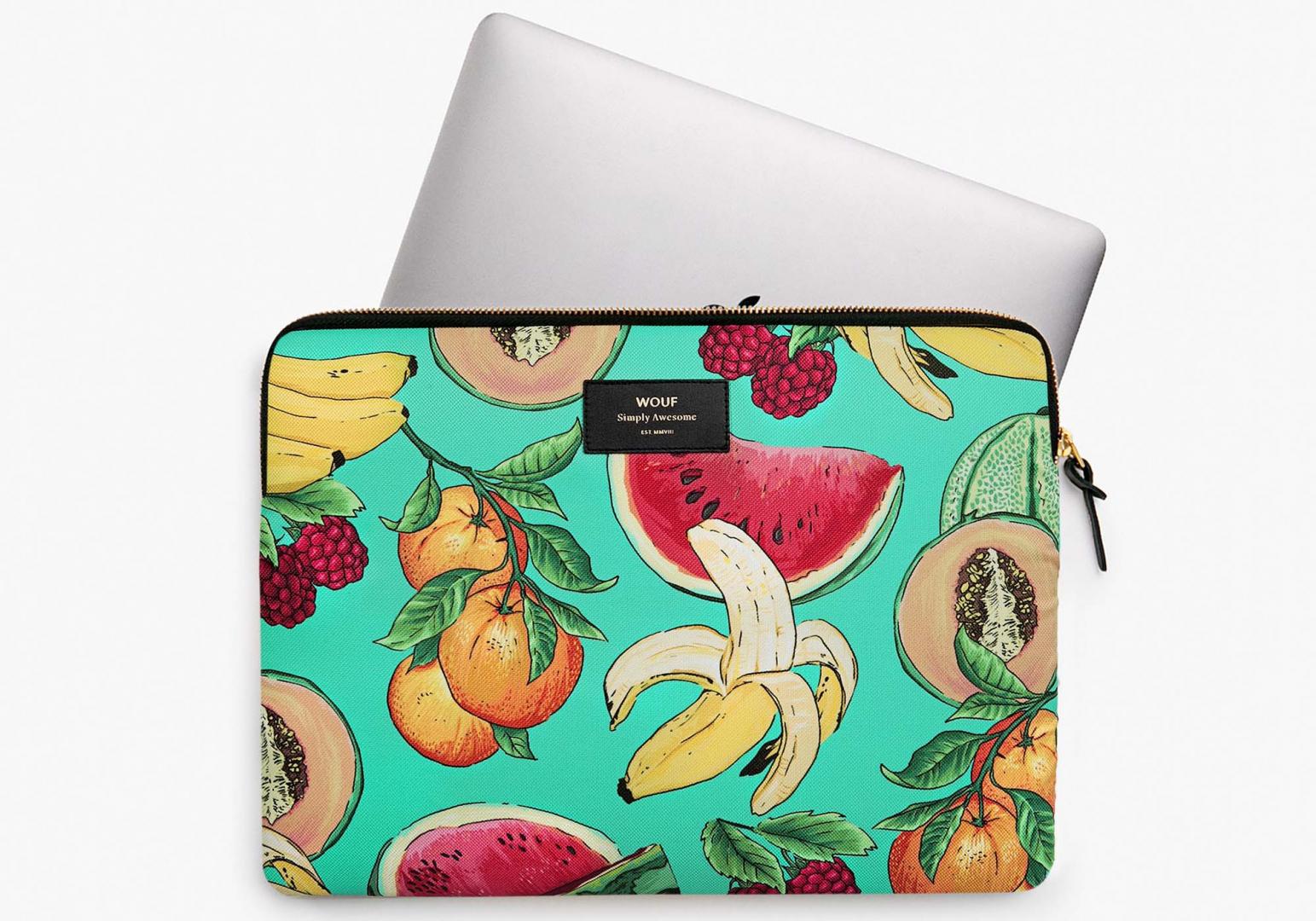 Housse Tutti Frutti macbook 13' - WOUF