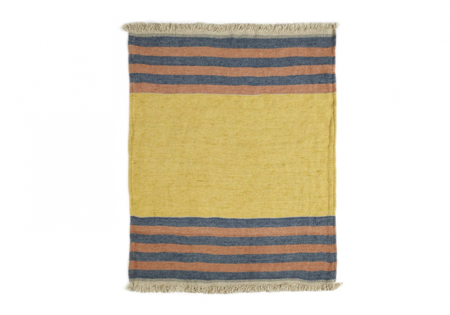 The Belgian Towel Fouta red earth stripe - LIBECO