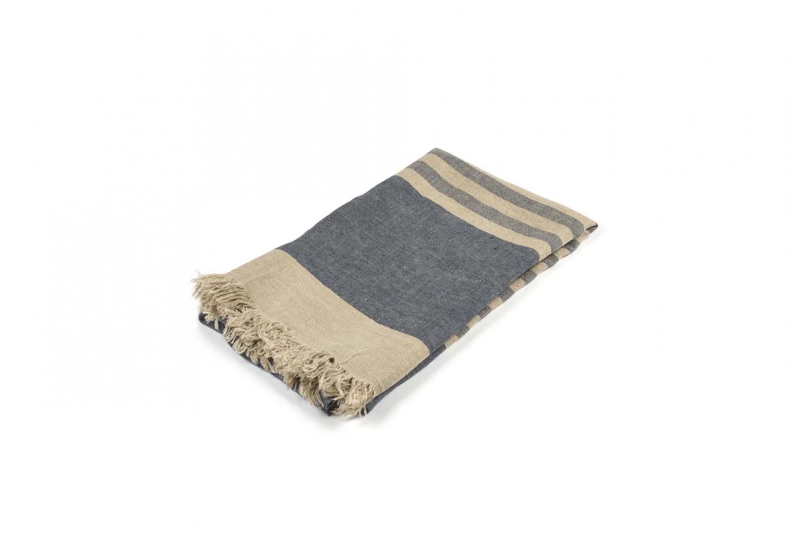 The Belgian Towel Fouta sea stripe - LIBECO