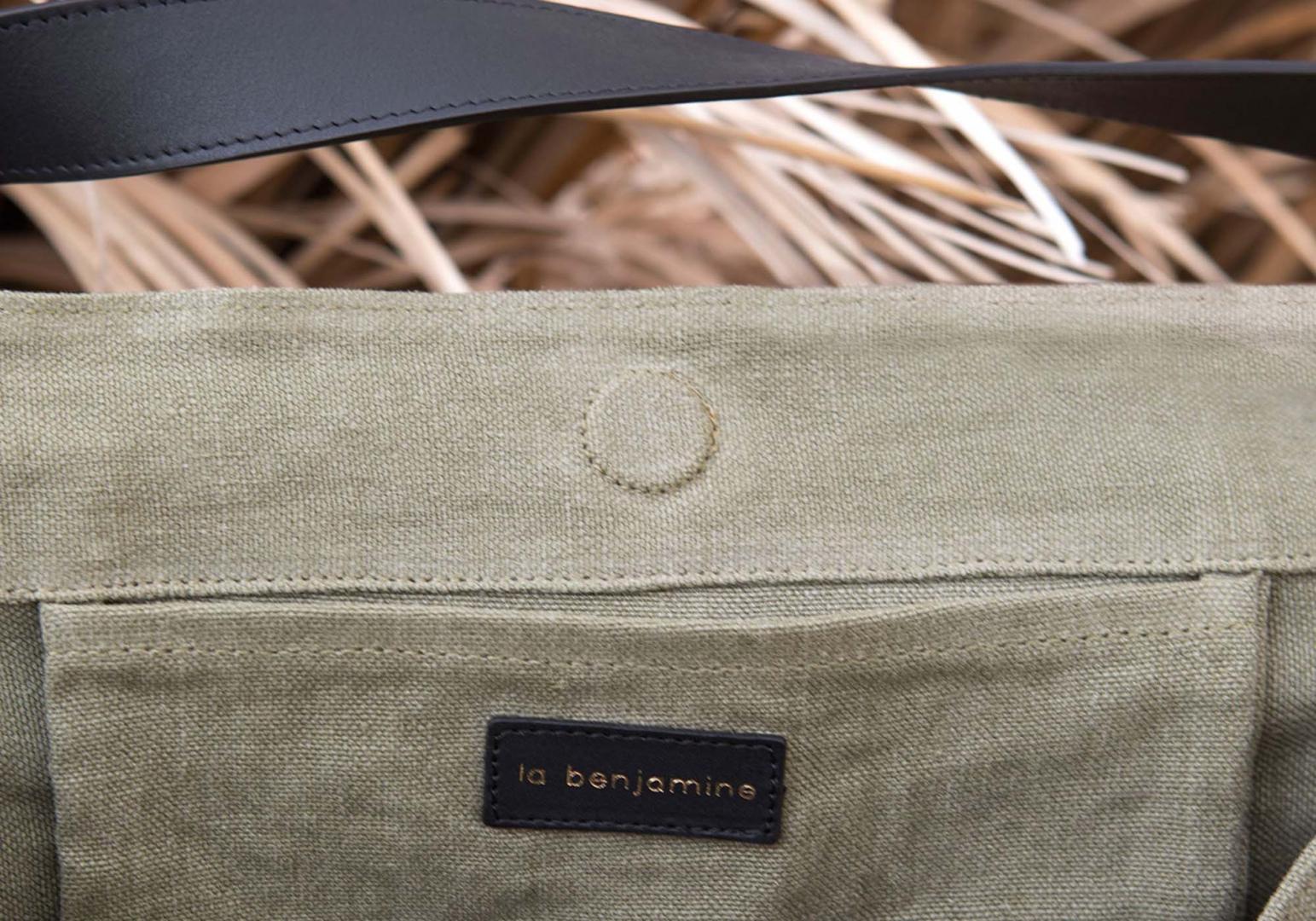 Cabas design en lin et cuir - LA BENJAMINE