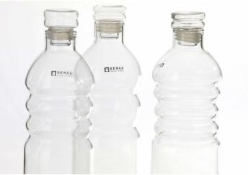 Assortiment de 3 bouteilles en verre S - SERAX