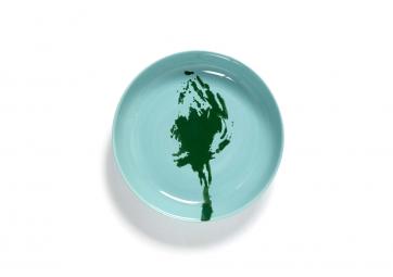 Assiette haute azur artichaut vert Feast Ottolenghi - SERAX