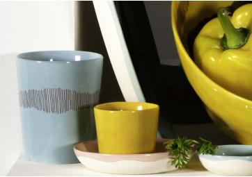 Tasse à thé Feast azur swirl stripes rouge - SERAX