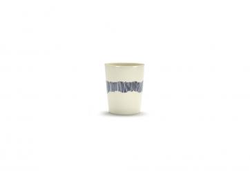 Tasse à thé Feast blanc swirl stripes bleu - SERAX