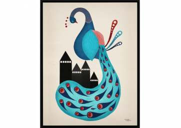 Affiche Peacok - MICHELLE CARLSLUND