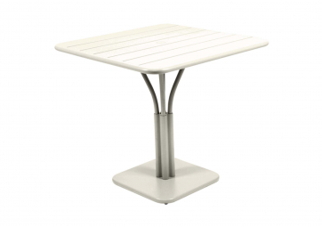 Table Luxembourg  80 x 80 cm pied central - FERMOB