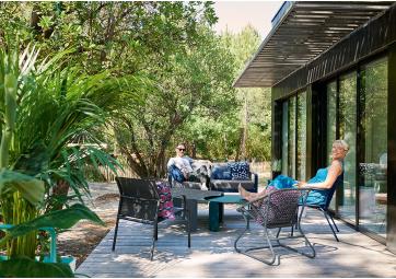 Canapé de jardin Bellevie 2 places coussin gris graphite - FERMOB