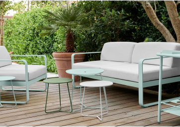 Canapé de jardin Bellevie 3 places coussin blanc - FERMOB