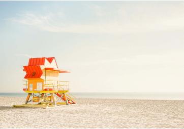 Miami Beach - Cabine rouge 30x40 - DAVID&DAVID