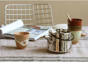 Lot de 4 mugs Yunomi en céramique - HK LIVING