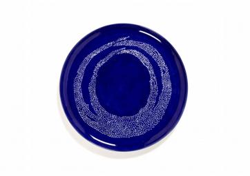 Assiette de service lapis lazuli dots blanc Feast Ottolenghi - SERAX