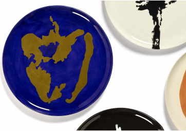 Assiette de service lapis lazuli poivron or Feast Ottolenghi - SERAX