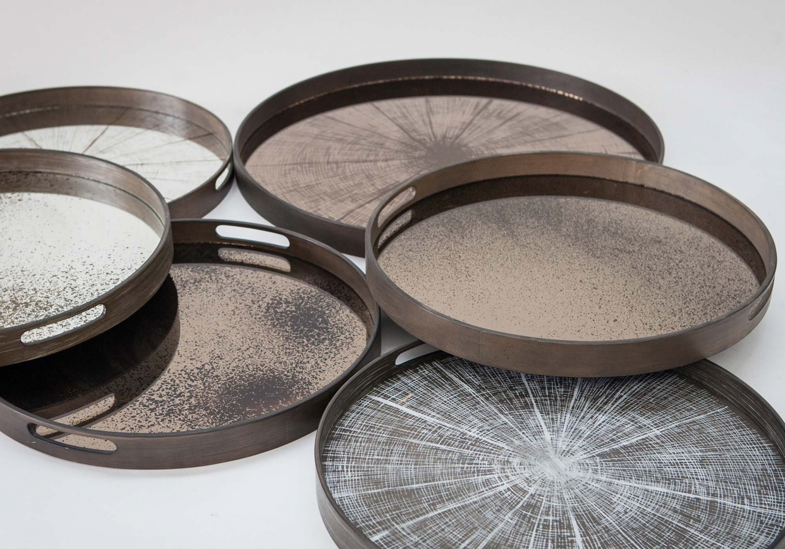 plateau bronze slice design - ethnicraft