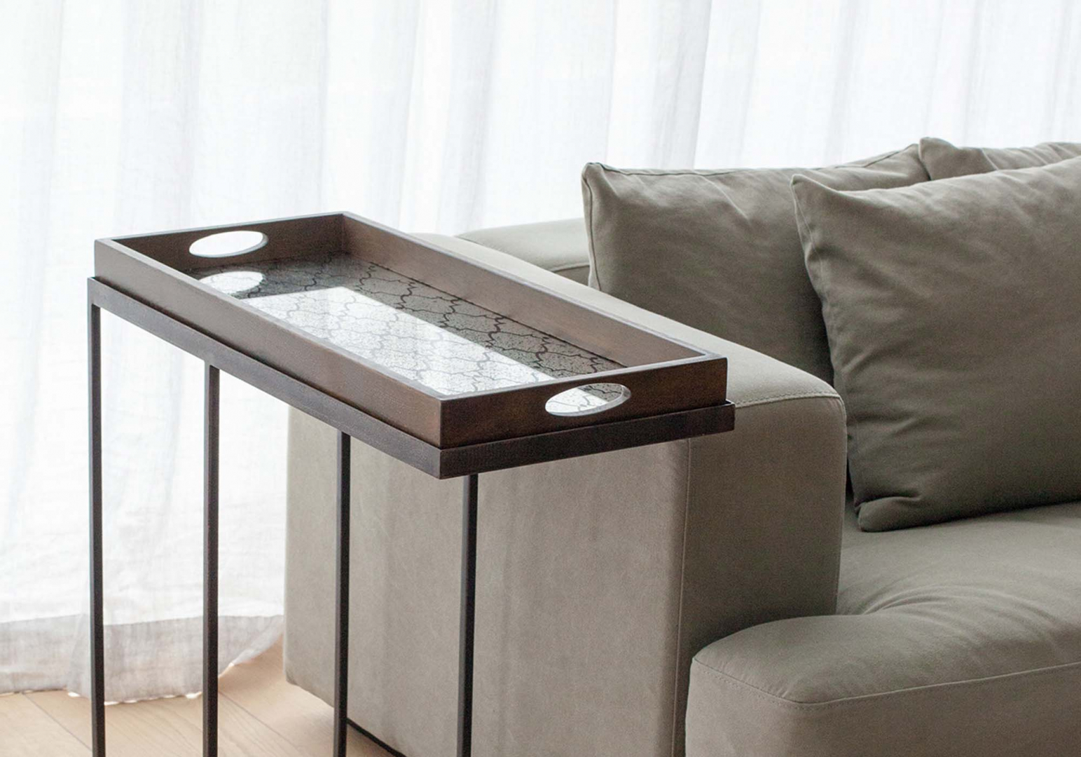 Table Rectangle Tray design - ETHNICRAFT ACCESSOIRES