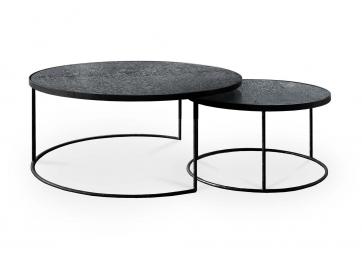Set de 2 Tables basses Charcoal Nesting - ETHNICRAFT