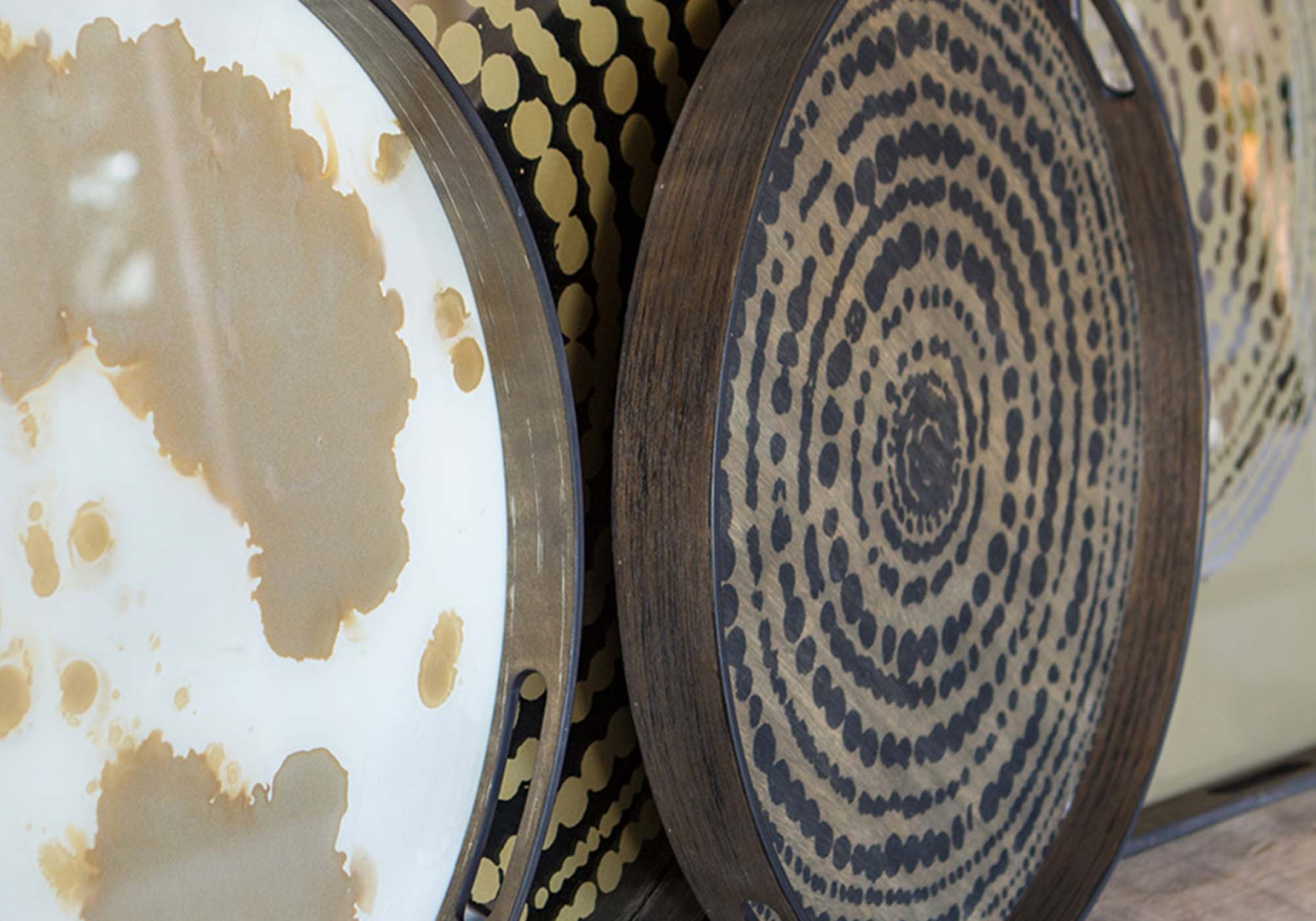 Plateau Black beads design ethnicraft