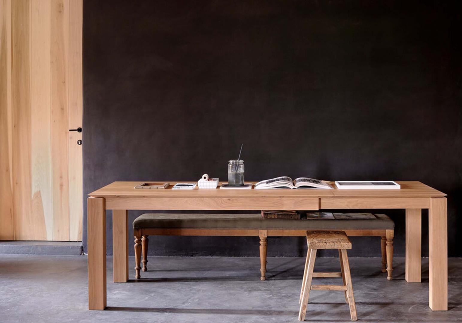 Table Slice extensible en chene design - ETHNICRAFT