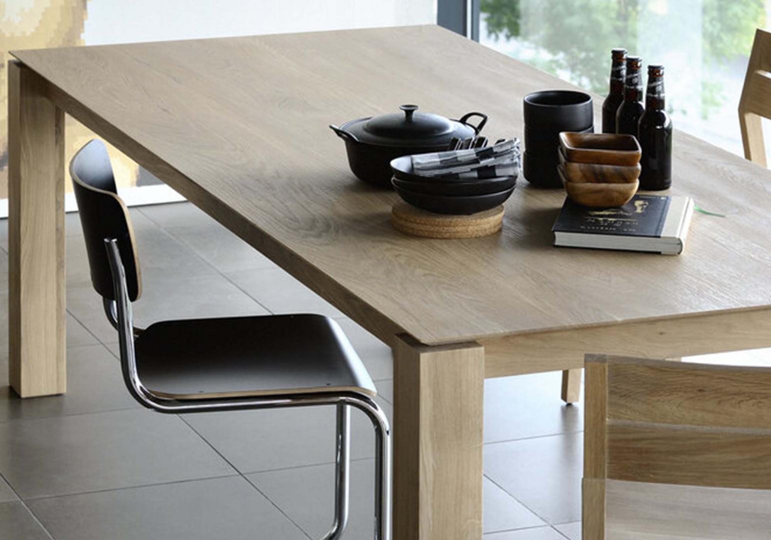 Table Slice en chene pieds design - ETHNICRAFT
