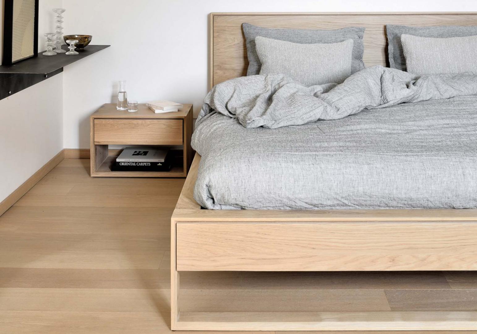 Lit Nordic II en chene design - ETHNICRAFT